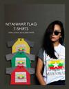 ミャンマー旗Tシャツ